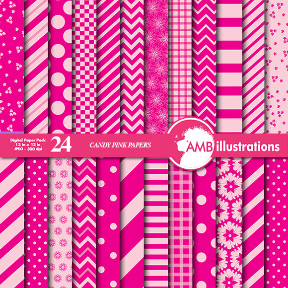 Mixed Candy Pink Papers AMB-541