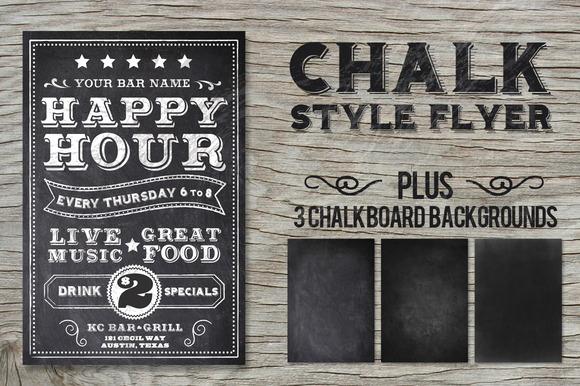Chalk Style Flyer