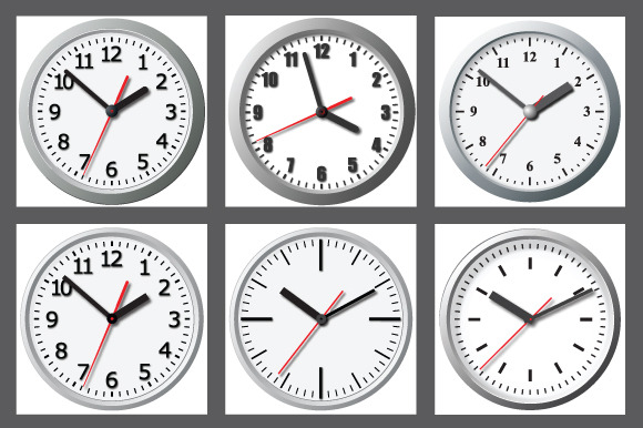 Wall Mounted Digital Clock Vector I