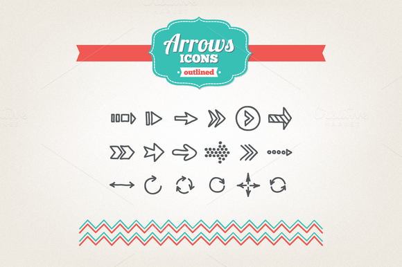 Hand Drawn Arrows Icons