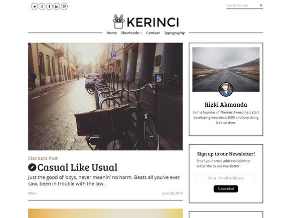 Kerinci Minimalist Modern Blog