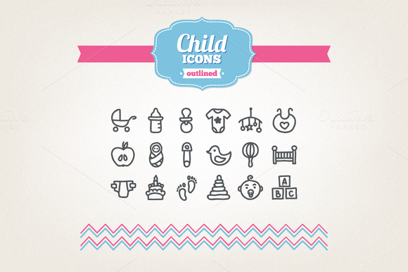 Hand Drawn Child Icons