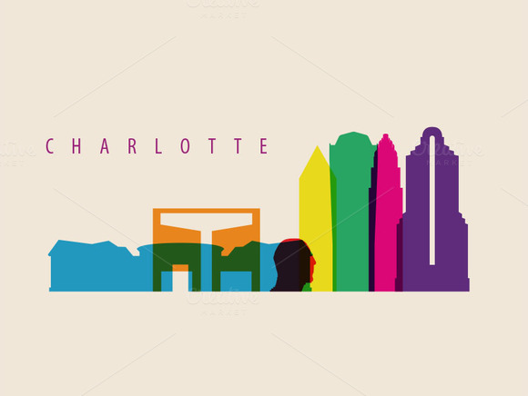 Charlotte City Landmark Illustration