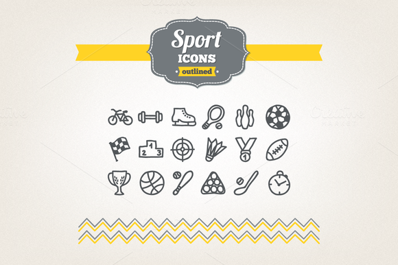 Hand Drawn Sport Icons