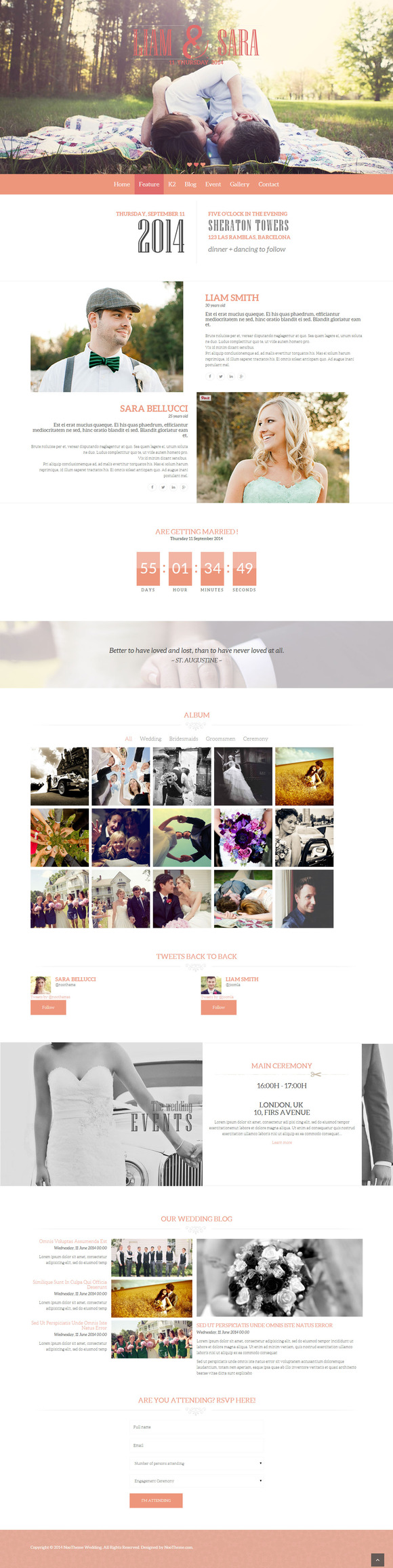 NooWedding Joomla Wedding Template