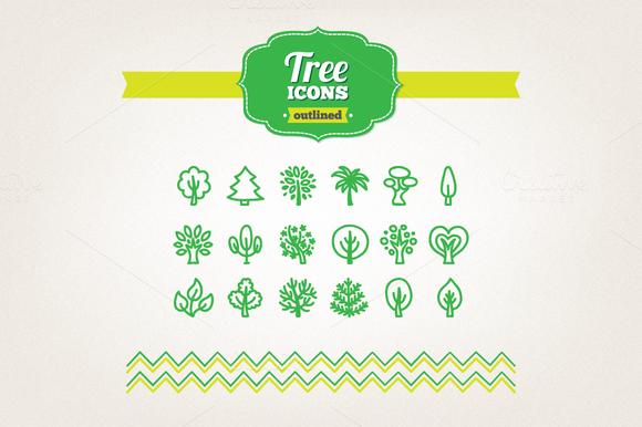 Hand Drawn Tree Icons