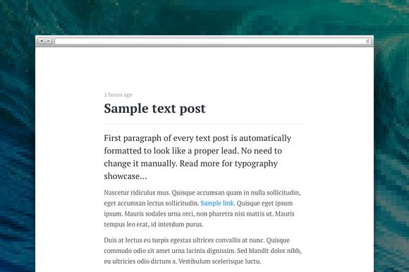 Paper Tumblr Theme