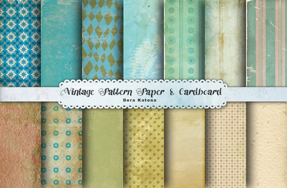 Vintage Pattern Paper Cardboard