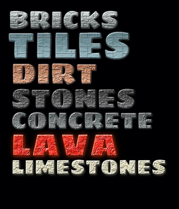 Photoshop Stone Styles