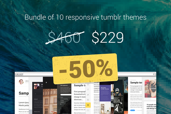 10 Tumblr Themes Bundle