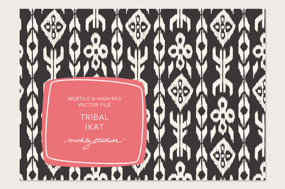 VECTOR PSD Tribal Ikat Tile Patt