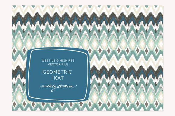 VECTOR PSD Geometric Ikat Tile P