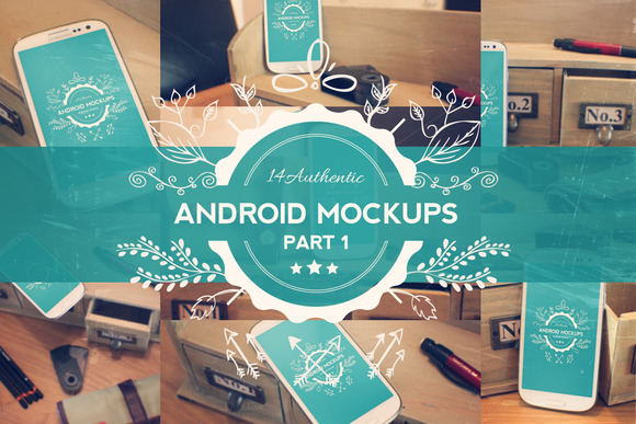 14 Android Phone Mockups Part 1