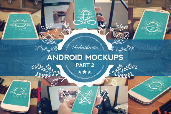 14 Android Phone Mockups Part 2