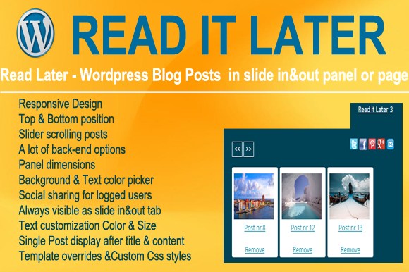 Read It Later Wordpress Plugin