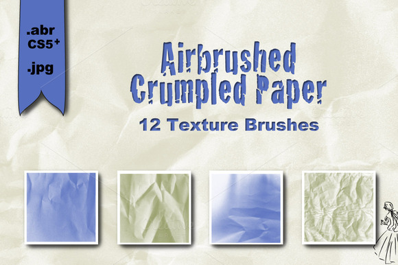 Airbrushed Crumpled Paper Textures