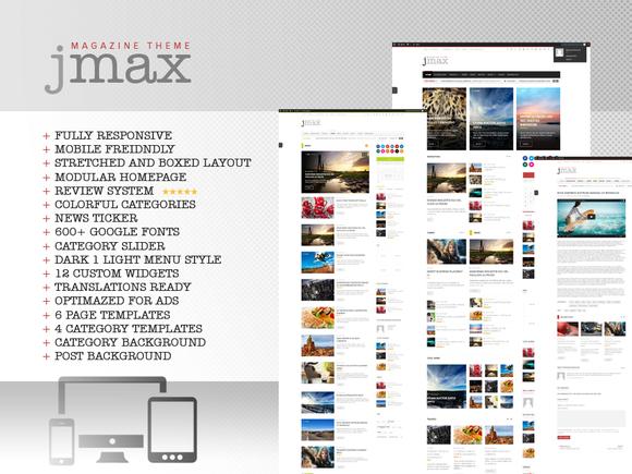 Jmax Responsive Blog Magazine Theme