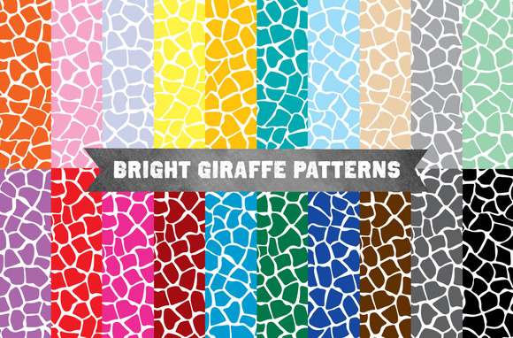 Giraffe Pattern Bright Backgrounds