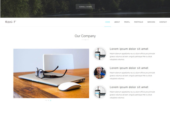 Roxi One Page Template