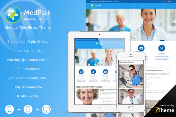 MedPark- WordPress Medicine Doctor