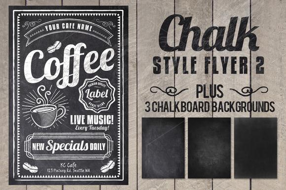 Chalk Style Flyer 2