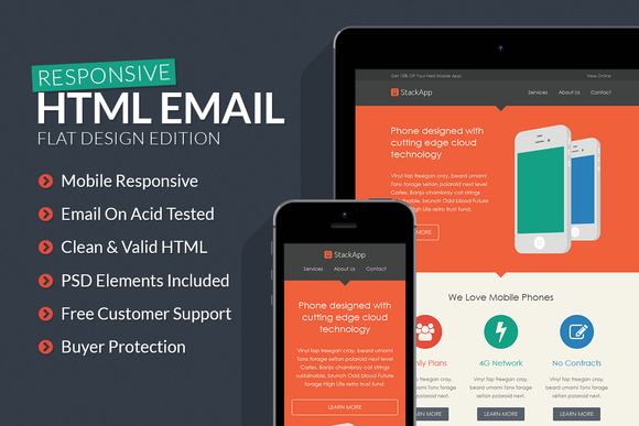 StackApp Responsive Email Template
