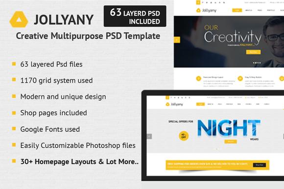 Jollyany Creative PSD Template