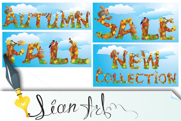 Words NEW COLLECTION SALE AUTUMN