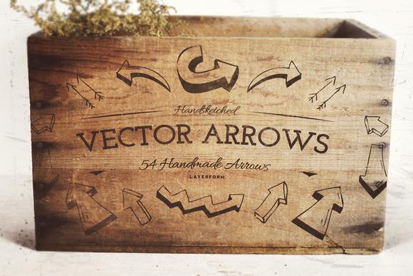 54 Handsketched Vector Arrows