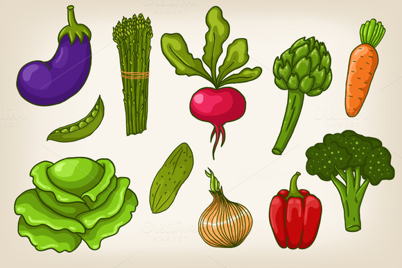 Vector Vegetables And Patterns
