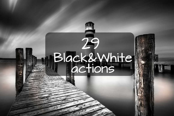 29 Black And White Actions