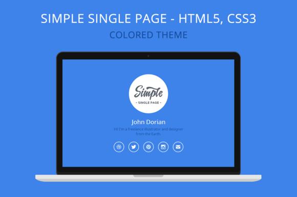 Simple Single Page