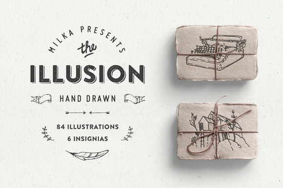 Illusion Hand Drawn Collection