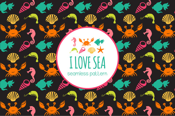 Pattern With Sea Live