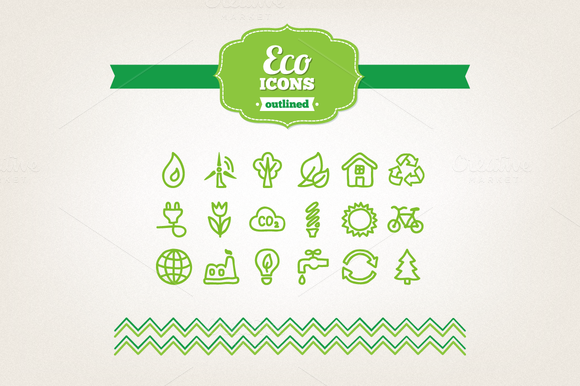 Hand Drawn Eco Icons