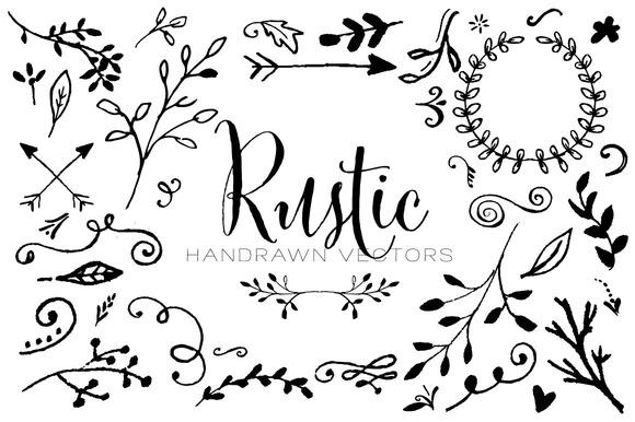 Rustic Handrawn Vectors