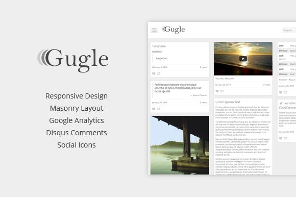 Gugle Elegant Responsive Tumblr