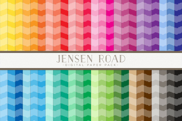 Ikat Chevron Rainbow Value Pack