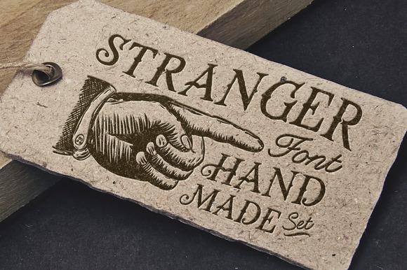 Stranger Font Pack Vector Graphics