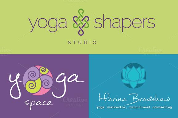 Yoga Logo Concepts Symbols