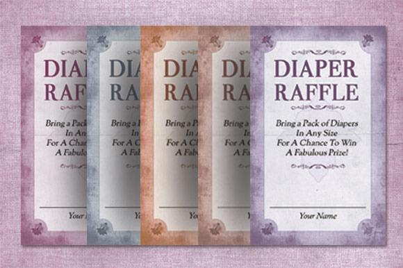 Diaper Raffle Flyer Template