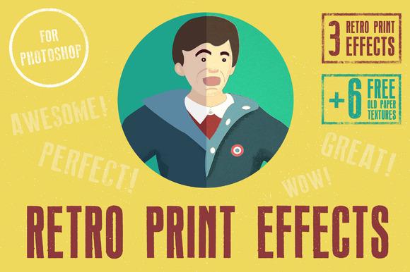Retro Print Effects