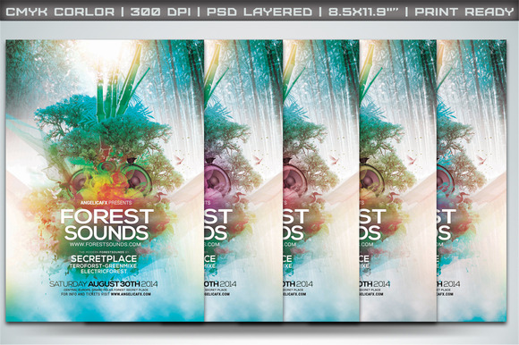 Forest Sounds Poster Flyer Template