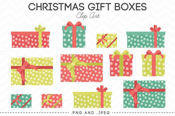 Christmas Gift Box Clip Art