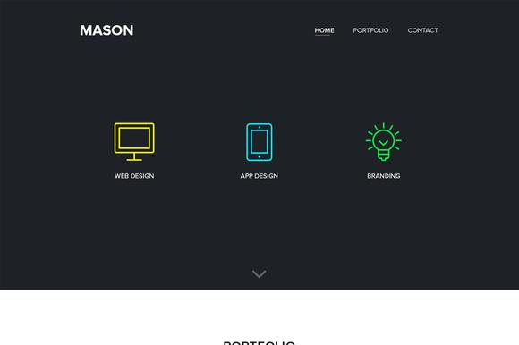 Website Template PSD