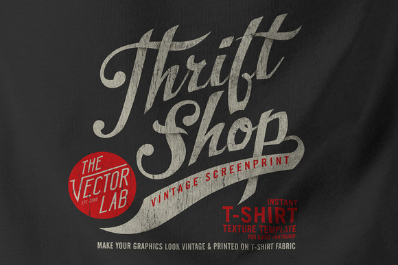 Thrift Shop Vintage T-Shirt Texture