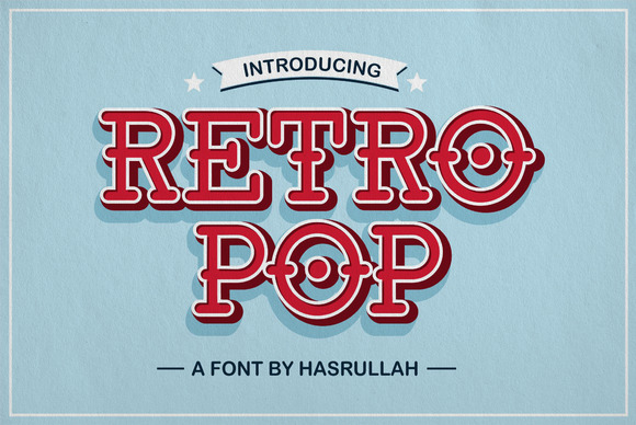 Retro Pop Layered Type Family