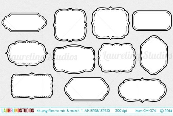 44 Piece Vector Digital Frame Set
