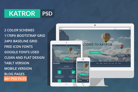 Katror One Page Multi-purpose PSD