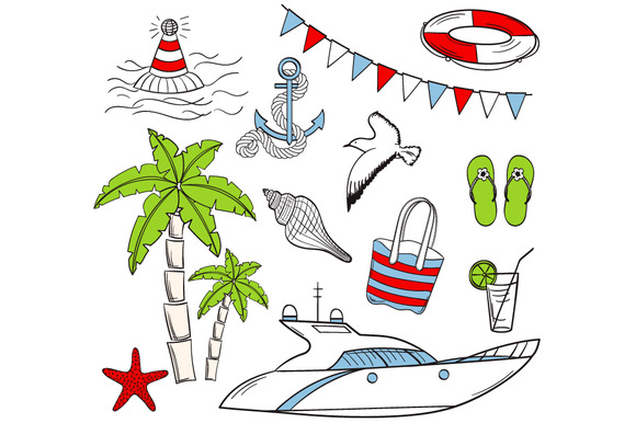 Sea Vacation Clip Art